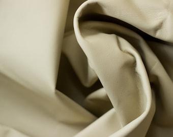 Cornsilk Cream Leather - 100% Genuine Cow Hide Cut - 24 inches X 6.5 inches