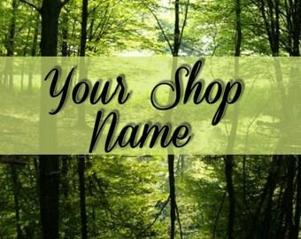 Shop Banner, Shop Banner Set, Shop Set, Banner Set, Custom Banner, Banner Design, Cover Photo, Premade Banner, Forest Banner Set,