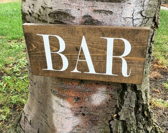 Bar Sign,Wood Sign,Bar Decor,Home Decor,Man Cave,Hand Painted,Rustic Decor,Wedding Decor,Wedding Sign,Wedding Gift,Distressed,Bar Gift