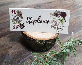 Personalised WOODLAND FOREST place cards