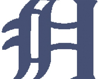 Detroit Tigers -- Counted Cross Stitch Chart Patterns, 3 sizes!