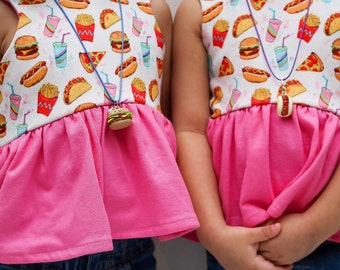 Hamburger charm , Hotdog charms , Food charms , Necklaces , Jewelry , Clay Charms