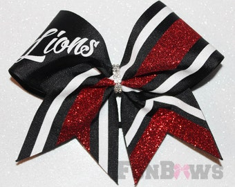 Custom  Team Name Cheer  Glitter Hairbow  by FunBows !! - your colors !