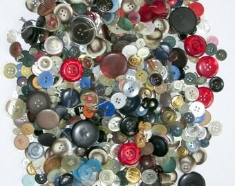 Vintage Buttons 1.5 Lbs. Pounds Seamstress' Bulk Estate Lot 1-1/2 Lbs.