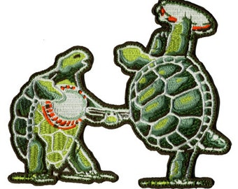 Grateful Dead Patch- Terrapin Station Turtles. 100% Embroidered/ Die Cut/ Dead And Company/ Turtles