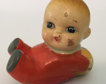 Vintage Rare Shanghai Baby Pencil Sharpener, Label in Chinese & English Attached