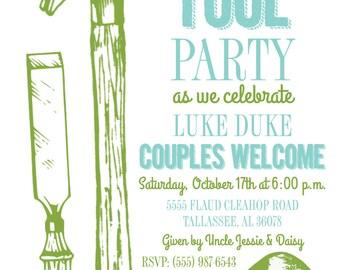 Tool Party Invitation 10/pk
