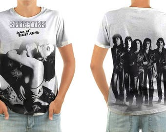 SCORPIONS love at first sting shirt all sizes