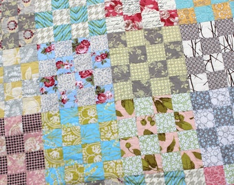 "Custom Made Wedding Quilt, Twin Quilt, Garden Quilt, 66"" x 82""  Quiltsy"