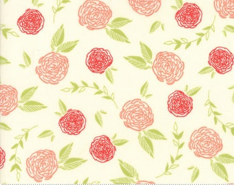 Creekside Roses Ivory Spray 37531 12 by Sherri and Chelsi from Moda ~ By the Yard