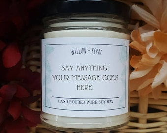 Gift for Fathers Day, Soy Candle, Personalized Gift, Customized Gift, Fathers Day Gift. Gift for Dad, Gift for Father, Scented Candle
