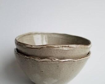 Set of two mud season bowls