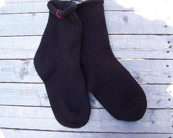 Socks BLACK Knit Socks 1 pair fits size 7 to 9