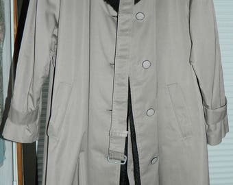 Vintage Mens Trench Coat Made In West Germany 1970s-1980s VALMELINE