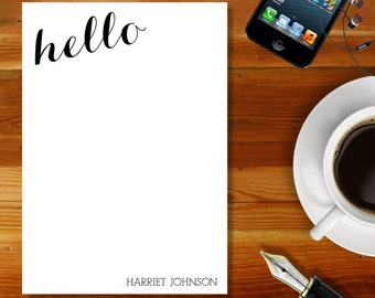 Personalised Notepad - Jotter Pad - Notepaper - Sleek and Simple Design - Gift - Writing Paper