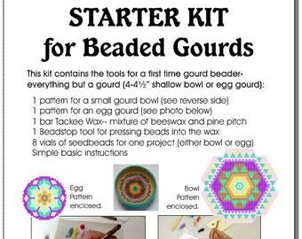 Starter Kit (Set B)For Beaded Gourds, Bowls, or Eggs