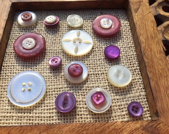 Vintage Purple Button ThumbTacks/Push Pins/Thumb tacks