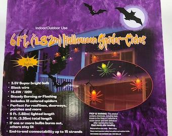 HL Halloween Decor - Multi couleur araignée lumière brin 35 lumières 11 pieds de long