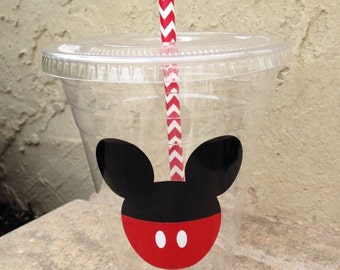 25 Plastic Mickey Party Cups-12 oz
