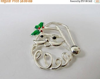 On Sale Retro Openwork Santa Claus Pin Item K # 2459