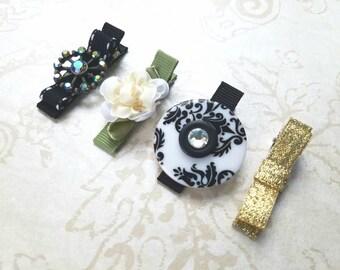Flower Girl Hair Accessories-Hair Clips- Flower Girl Gift-Perfect for Weddings