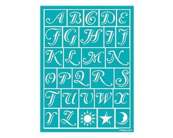 Stencil, Letter Stencil, Alphabet Stencil, Adhesive Stencil, Wall Stencil, Stencil for Painting, Stencil Pattern, Glass Etching Stencil, ABC