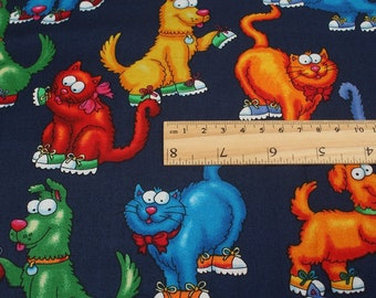 lovely cats Cotton DIY Stitching cloth Fabric sewing 50*140 cm 1/2 yard