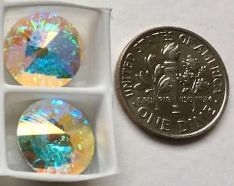 Swarovski Rivolis 14mm Crystal A/B