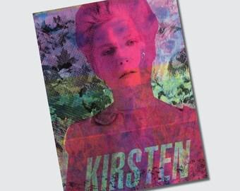 Umfunktionierten Original Siebdruck auf Tapete 6 x 8 druckt CMYK Marie Antoinette Sofia Coppola Kirsten Dunst - 3er Set