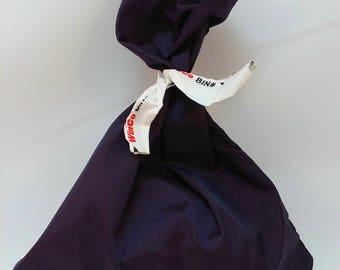 3 Reusable Purple RIPSTOP NYLON bags for produce bulk food gift or favor bags