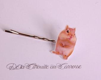 Hair pin, Standing hamster, hamster, hair accessory, kawaii accessory, kawaii