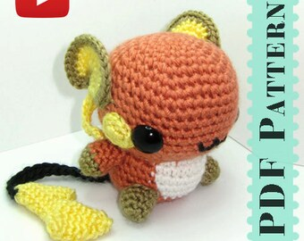 Raichu Amigurumi Crochet Tutorial Companion Pattern