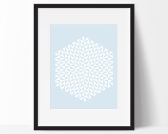 Geometric Print Art, Geometric Art, Geometric Printable, Digital Art Print, Geometric Print, Instant Download, Modern, Blue
