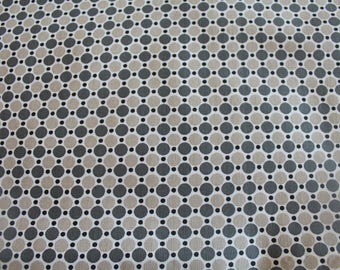 Graphic fabric coupon 50 x 70 cm taupe and gray