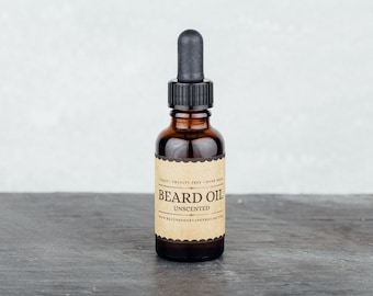 Unscented Beard Oil. Beard Conditioner. Beard Grooming and Care.