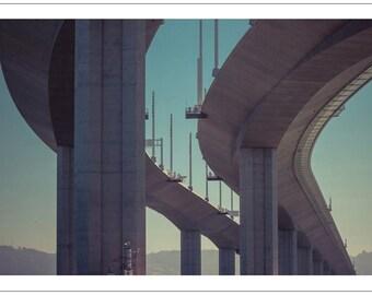 Postcard - Bay Bridge - by Alex Vakulin