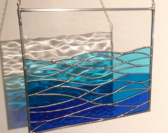 Handmade Stained Glass Ocean View