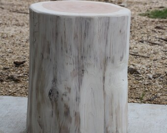 Tree Stump Seat, Table, Stool, S, M, L available, Painted, stained or finished, ready for home, business, art, garden, landscaping, project