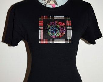 Celtic Horse - custom made t-shirt - Celtic Shirt - Celtic gift - Gift for her - Celtic Knots - Tartan Shirt