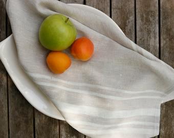 Hand printed tea towel on 100% linen