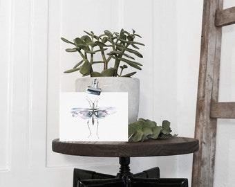Watercolor Postcard Little Insect | A6 | Kunstdruck
