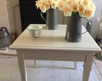 Handpainted upcycled side table