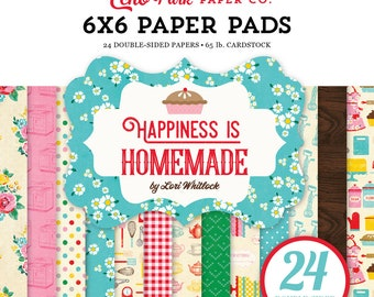 Echo Park Paper HAPPINESS IS HOMEMADE 6x6 Scrapbook Paper Pad
