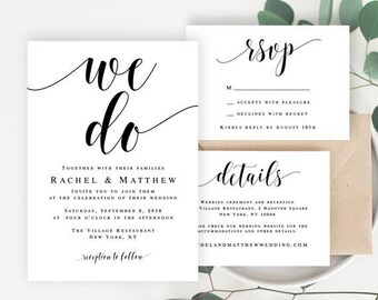 Wedding invitation template download Wedding invite template Wedding invites printable Wedding template Wedding invitation template #vm31