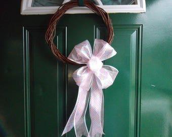 Spring or Easter Pinwheel Ribbon Wreath