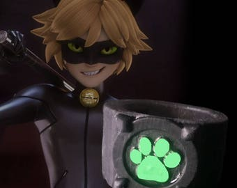 Chat Noir Adrien Agreste ring - Glow in the Dark - Miraculous Ladybug