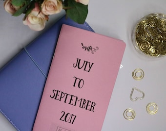 Standard Traveler's Notebook - 3 Month Booklet includes MO2P & WO2P