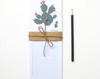 Cactus Perpetual Calendar, Birthday Calendar - 4.25x11.75 Monthly Calendar