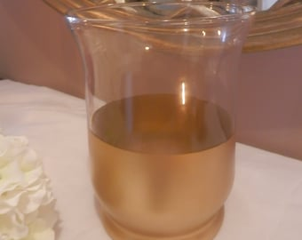 Wedding centerpiece, Gold vase, Gold glass candle holder,Wedding decoration, gold wedding candle holder or flower vase , wedding decoration