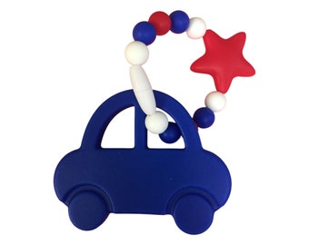 Cute silicone teether (car or hand) chewelry, toddler bracelet, silicone teether